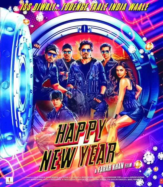 Happy New Year First Look Poster - Shahrukh Khan, Deepika Padukone