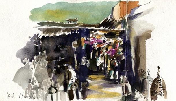 Urban sketchers paris c 39 est le souk carnet de voyage - Bruit qui attire les chats ...