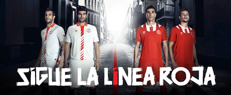 Anuncio oficial del Sevilla FC para presentar las camisetas con el primer escudo oficial en su historia.