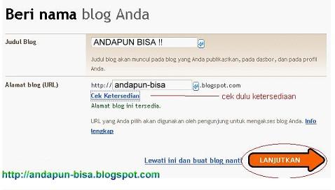 Cara Membuat Blog Baru di Blogspot - Blogger Super Mudah