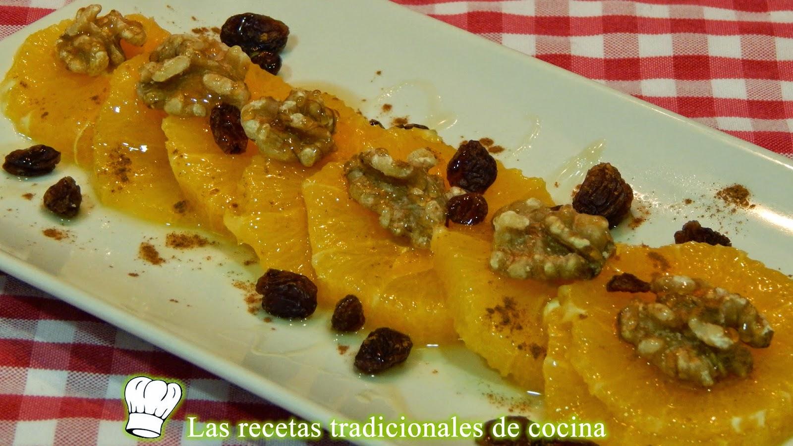Naranjas preparadas