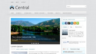Download Central Blogger Template