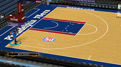 NBA 2K13 76ers Court With 50 Seasons Logo Patch