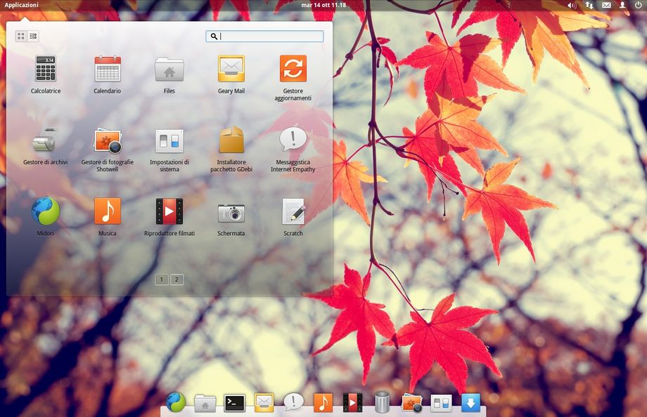 elementary OS con tema trasparente