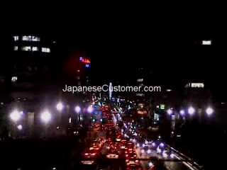 Tokyo night train view Copyright Peter Hanami 2005