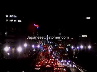 Tokyo night train view Copyright Peter Hanami 2005