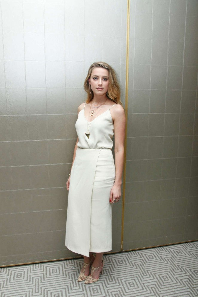 Amber Heard is stunning at the Magic Mike XXL press conference in West Hollywood