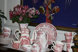 Red English Transferware