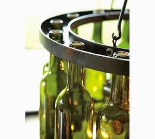 Conseils d co et relooking r utilisation et le recyclage des bouteilles et p - Lustre bouteille verre ...