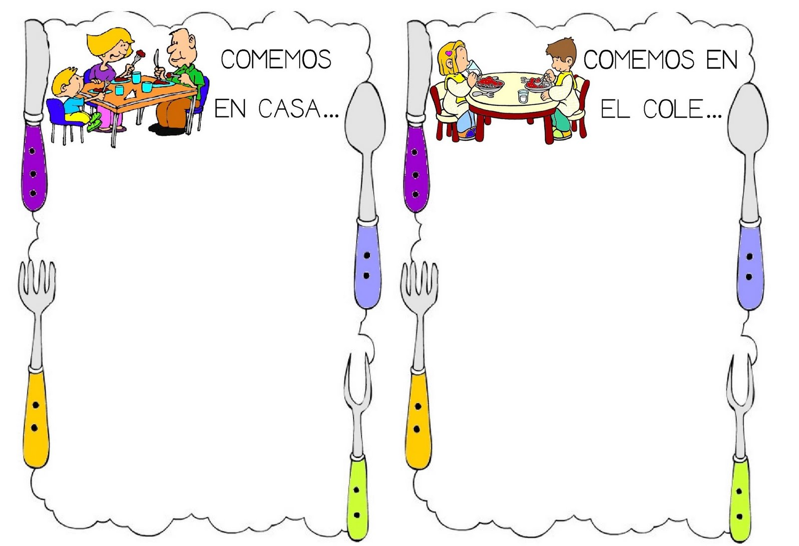 Mis cositas de profe alumnos comedor o casa - Comedor escolar en ingles ...