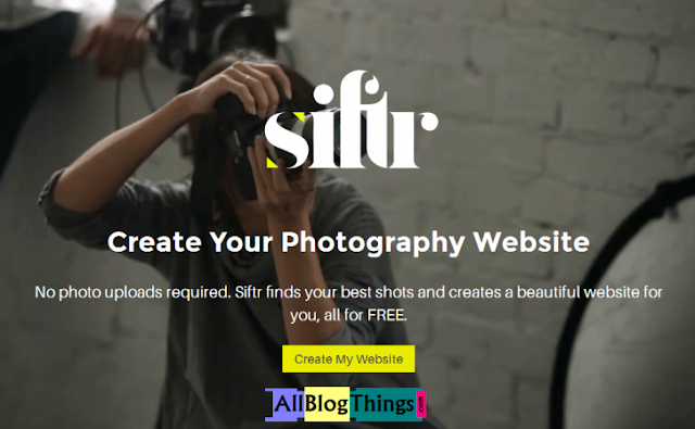 how to create website for photography