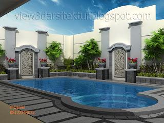 kolam renang rumah , kolam renang pribadi , kolam renang mini