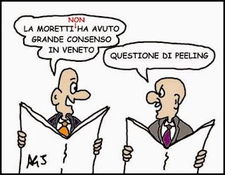 Moretti, Elezioni regionali, veneto, satira , vignetta