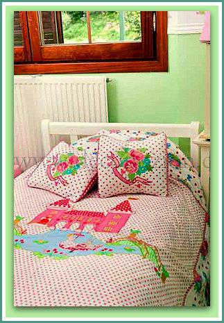 Dise o y decoraci n de la casa ropa de cama para ni as y - Disenos de camas para ninos ...