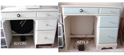 Thrifted furniture makeover before and after photos
