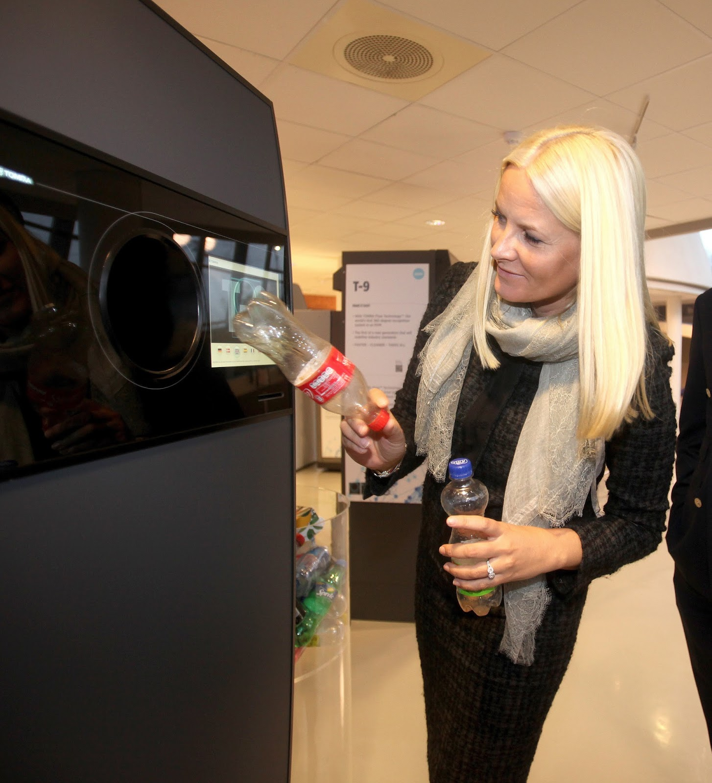 Princess Mette-Marit Monday visited RVM company Tomra