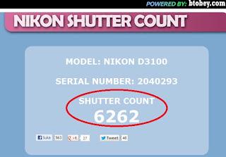 nikon shutter count