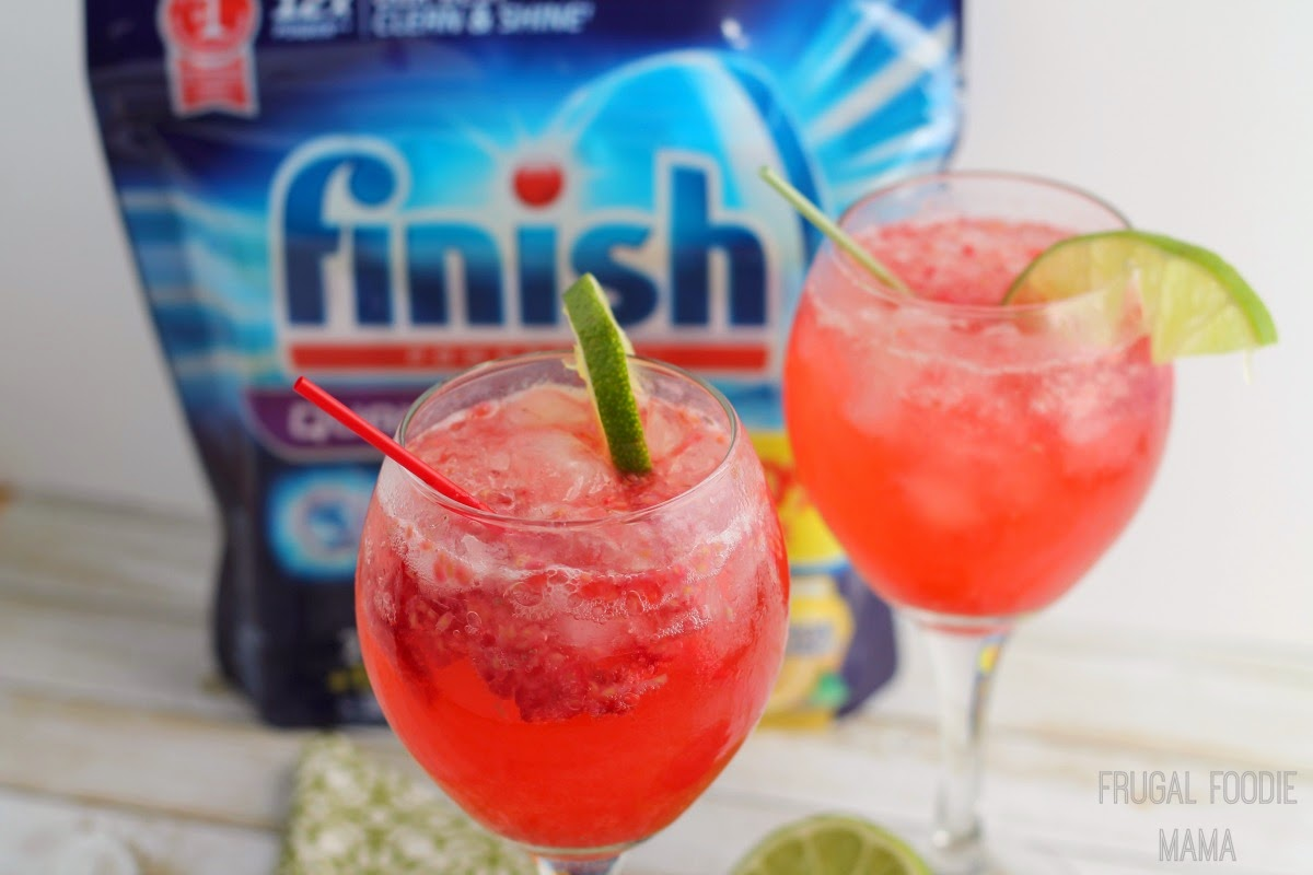 Fresh raspberries, lime, bubbly club soda, and a little gin come together in this perfect for spring Raspberry Limeade Gin Fizz #showmetheshine @Target #ad