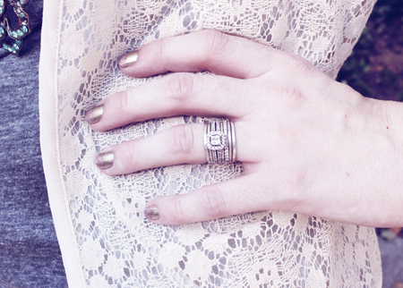 i also love the fact that i can now mix and match my rings for a simple or full glam look - Stacked Wedding Rings