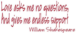 Shakespear Love asks no questions