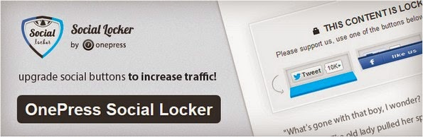 OnePress Social Locker plugin for WordPress