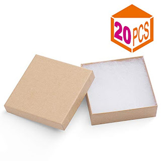 The Display Guys Pack of 25 Cotton Filled Cardboard Paper Gold Jewelry Box Gift Case 2 1//8x1 5//8x3//4 inches #11