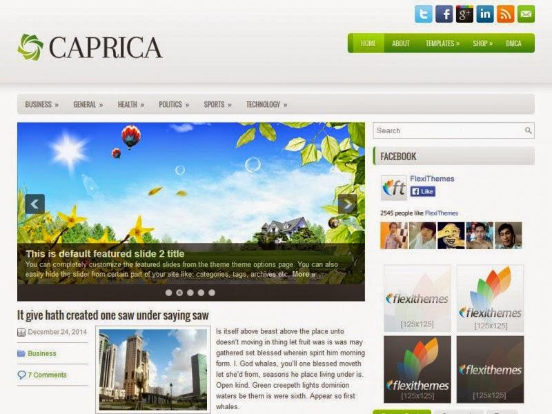 Caprica - Free Wordpress Theme