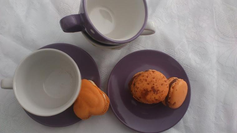 macarons de chocolate y naranja