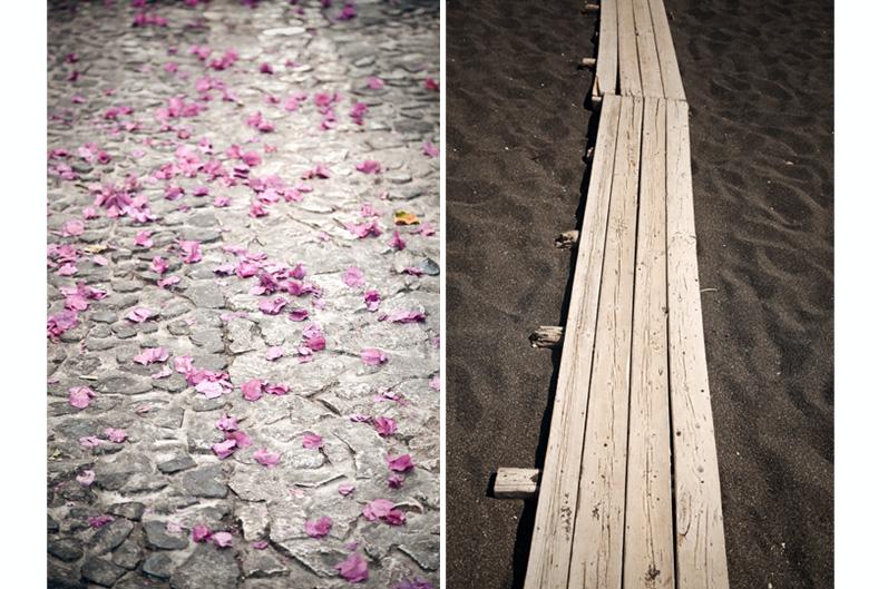 plage sable noir Périssa