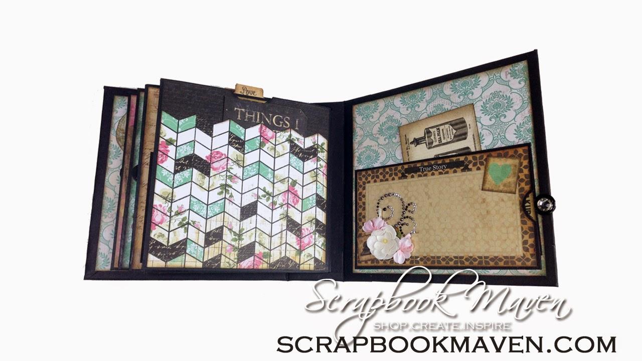 Vintage Interactive Pocket page albumMarion Smith Designs Romance Novel Chapter 2 Kit at ScrapbookMaven.com Vintage Mini Album