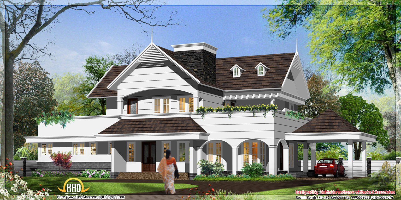 English style house in kerala 3300 sq ft kerala home for European home designs