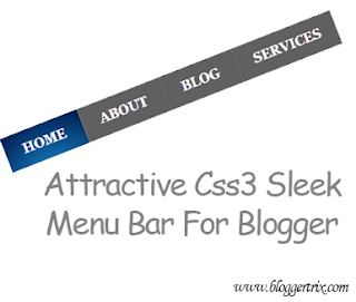 Attractive+Css3+Sleek+Menu+Bar+For+Blogger
