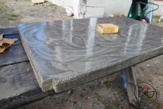 gjuta betongskiva till köket i timmerhuset/sommarstugan