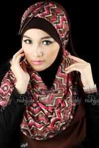 Nuhijab SSB Tribal - Pink Brown (Toko Jilbab dan Busana Muslimah Terbaru)
