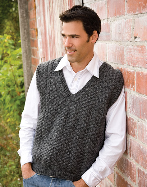 Free Knitted Vest Patterns : Knitting With Karma: Fathers Day Freebie - Knit Ahead Vest