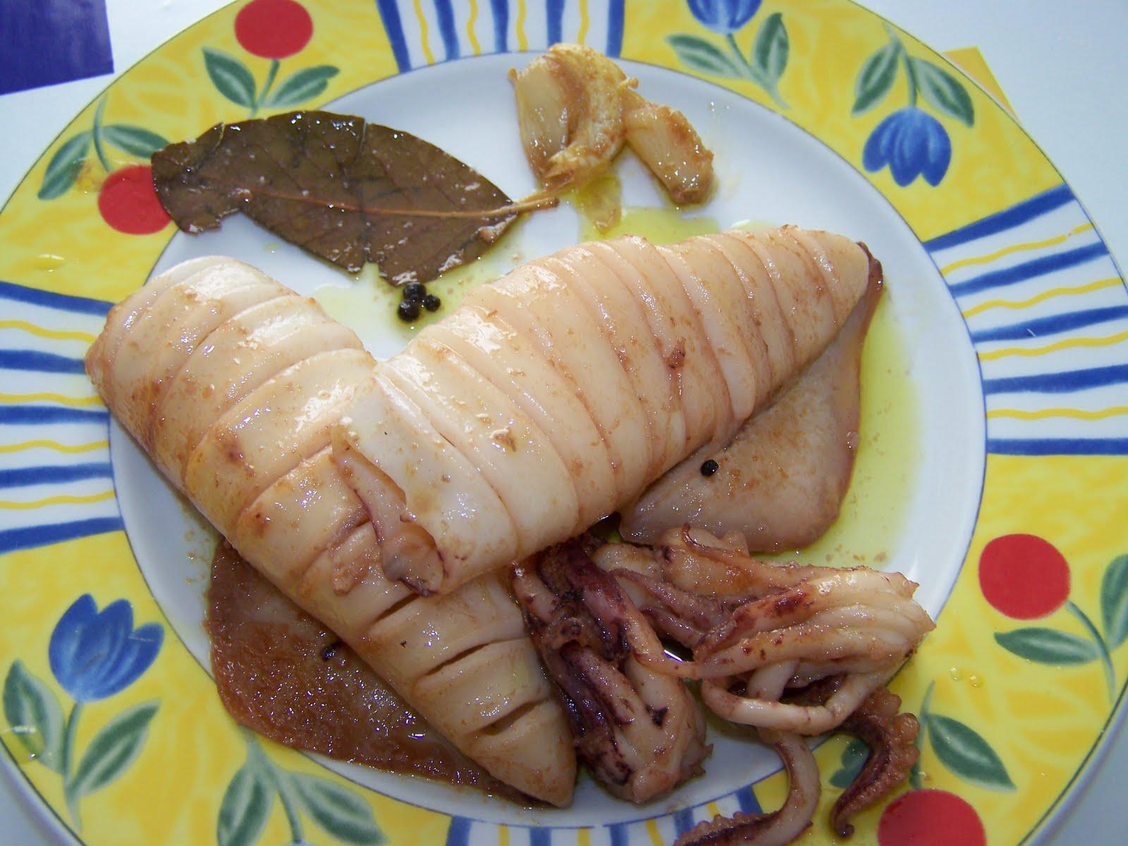 Las recetas de francis aguilera calamares en aceite - Limpiar calamares pequenos ...