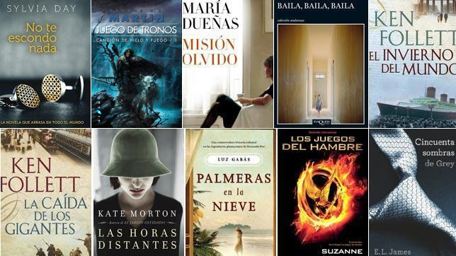 Los Bestsellers más buscados en Google durante 2012