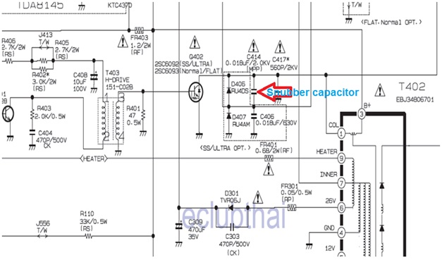 electronics repair made easy 21 inch LG CRT television model – Lg Wiring Diagram