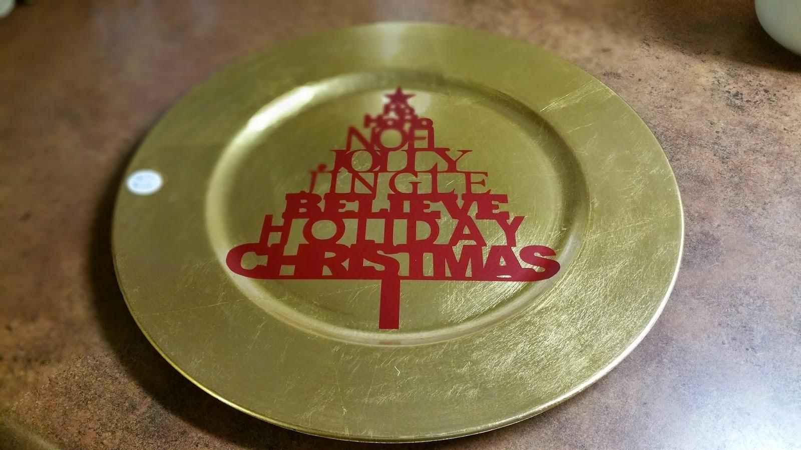 Custom Christmas Chargers