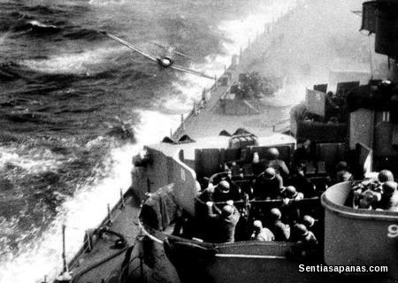 Kamikaze Hits the USS Missouri
