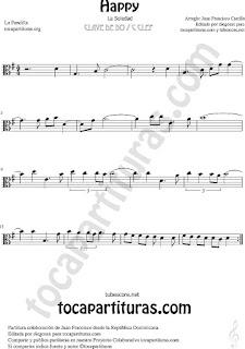 Happy partitura en tonalidad fácil de Viola, La Soledad Viola Sheet Music de la Pandilla