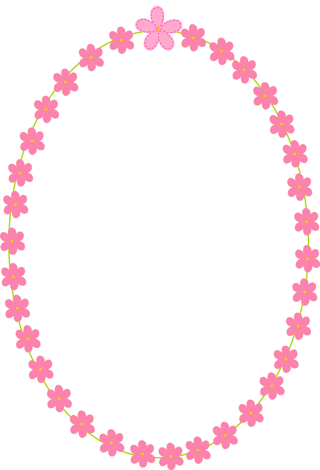free digital flower border scrapbooking elements - Clipart Rahmen ...
