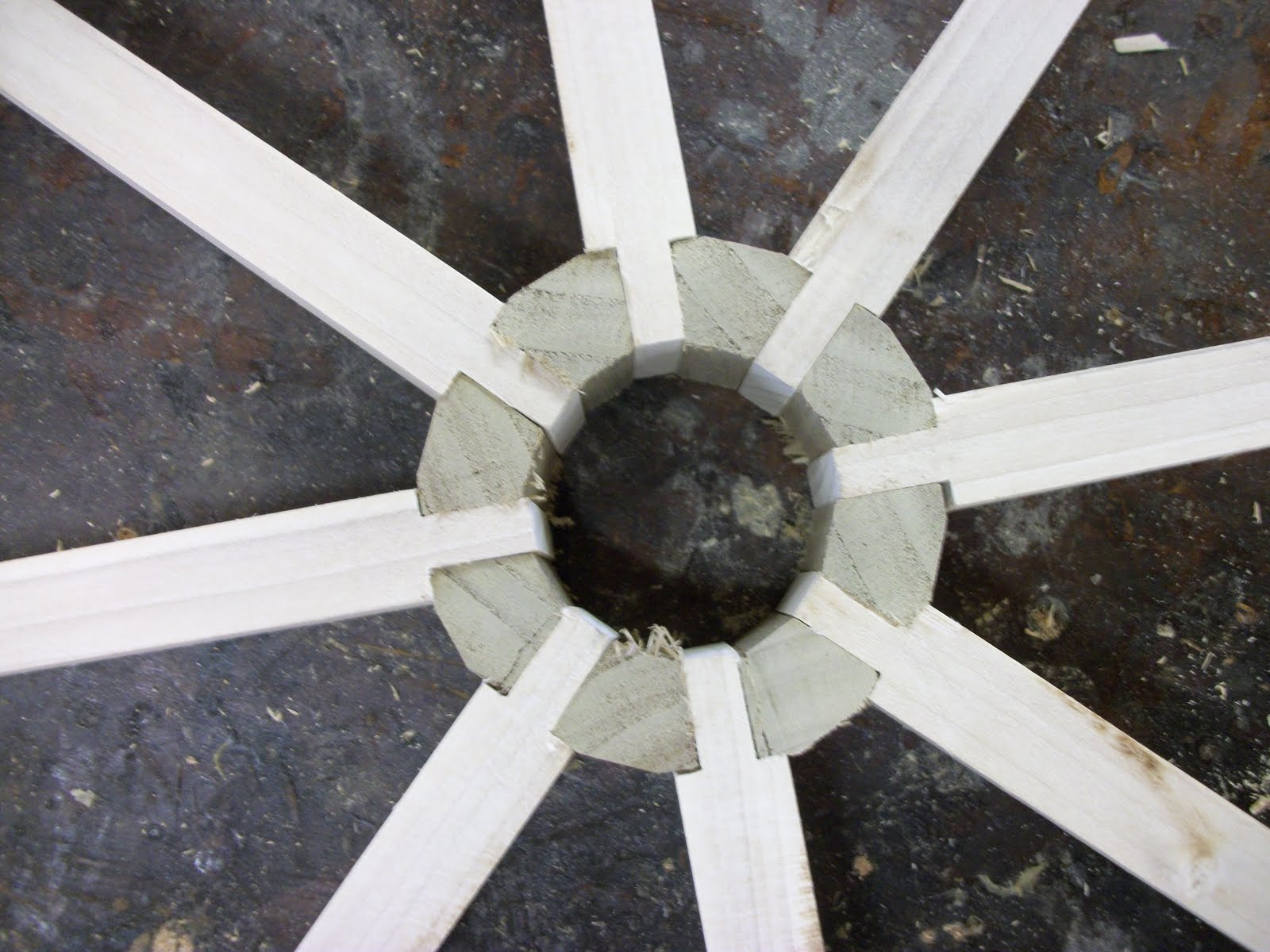 Wooden Axle Hub : Letters from the chair making a wagon wheel