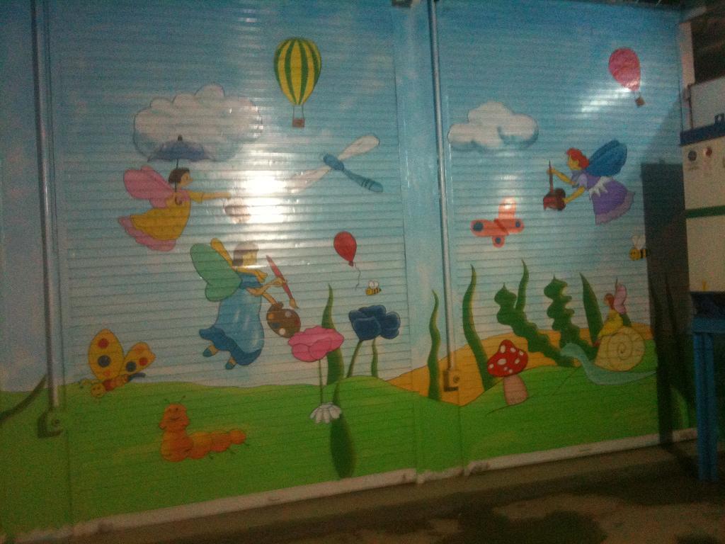 Kids school classroom wall murals andheri for Classroom wall mural