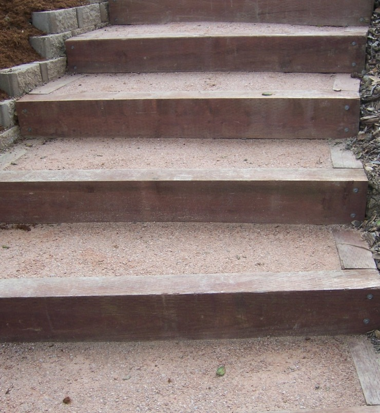 Photo   Landscape Timber Stairs