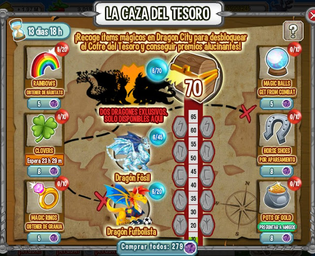Evento La Caza Del Tesoro En Dragon City