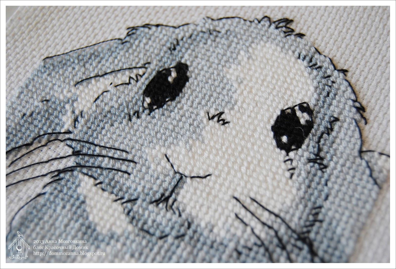 DMC заяц вышивка
