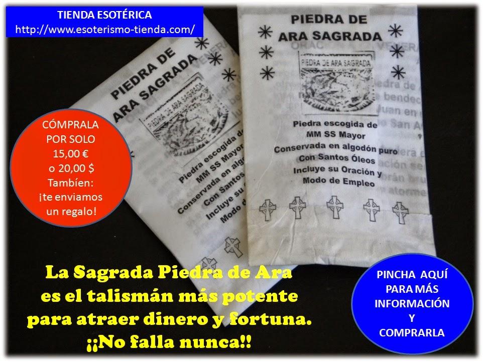 COMPRA EL PODEROSO TALISMÁN SAGRADA PIEDRA DE ARA PARA ATRAER DINERO A TU VIDA