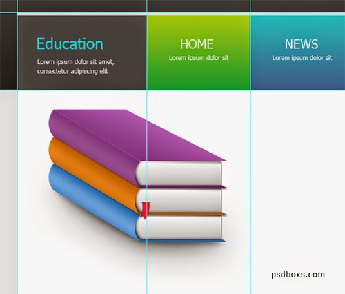 Create a Education Web Design In Photoshop