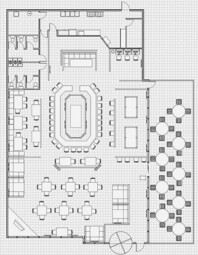 Italian Restaurant Floor Plan Viewing Gallery